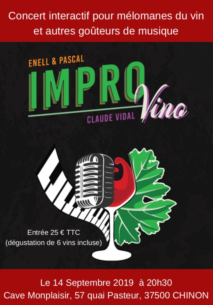 Affiche concert impro vino le 14 septembre 2019 à 20h30 cavemonplaisir chinon
