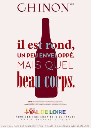 affiche de promotion de l'appellation chinon